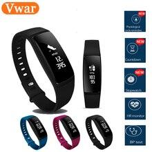 Vwar V07S Смарт-фитнес браслет с женский физиологические напоминание Часы Приборы для измерения артериального давления монитор сердечного ритма Смарт Браслет