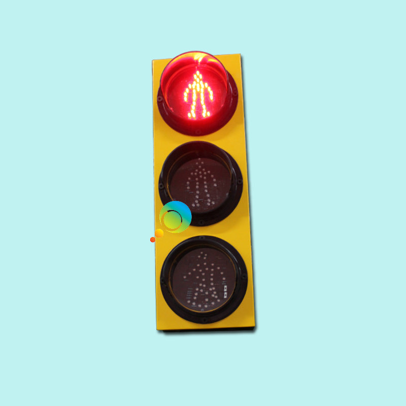 Exclusive Design 125mm School Teaching Red Green Yellow Pedestrian Traffic Light With Folding Pole