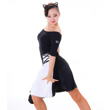 black white salsa dance dresses latin dance wear ballroom tango dresses rumba dress latin ballroom dress modern dance costumes