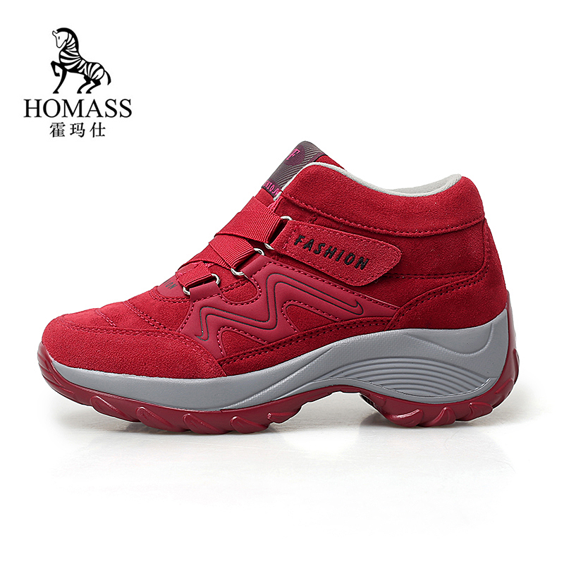 Women Snow Boots Winter Shoes Warm Plush Krasovki Ankle Boots 2018 Brand Female Hiking Shoes Wedge Sneakers Sapatos Feminino