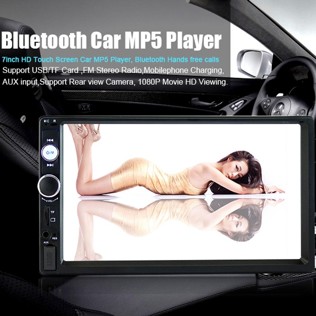 7-дюймовый 2 DIN 7010B автомобиля Bluetooth Аудио радио в тире Сенсорный экран стерео mp3-mp5-плеер 7010B USB Управление рулевого колеса
