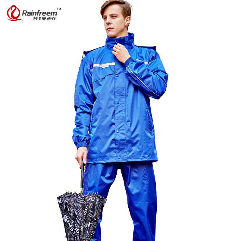 Непромокаемый плащ для женщин/мужчин капюшон от дождя водонепроницаемое пончо, дождевик, куртка, брюки, костюм для дождливой погоды для мужчин, мотоциклетный дождевик