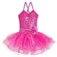 Newest Fashion 3Colors 2016 Sleeveless Cute Girl Leotard Toddler Ballet Tutu Dance Dress 2 8Y Kids