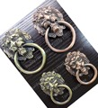European rural style furniture handle classical zinc alloy pull bronze lion head rings for cabinet or drawer