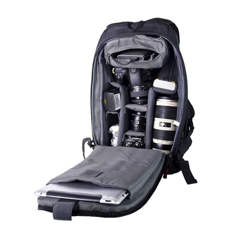 fosoto Digital DSLR Camera Bag Waterproof Photo Backpack Photography Soft Bags Video Case for Nikon Canon Sony With Rain Cover caden m5 camera bag backpack waterproof canvas gray photo video carry case digital camera case for dslr canon nikon