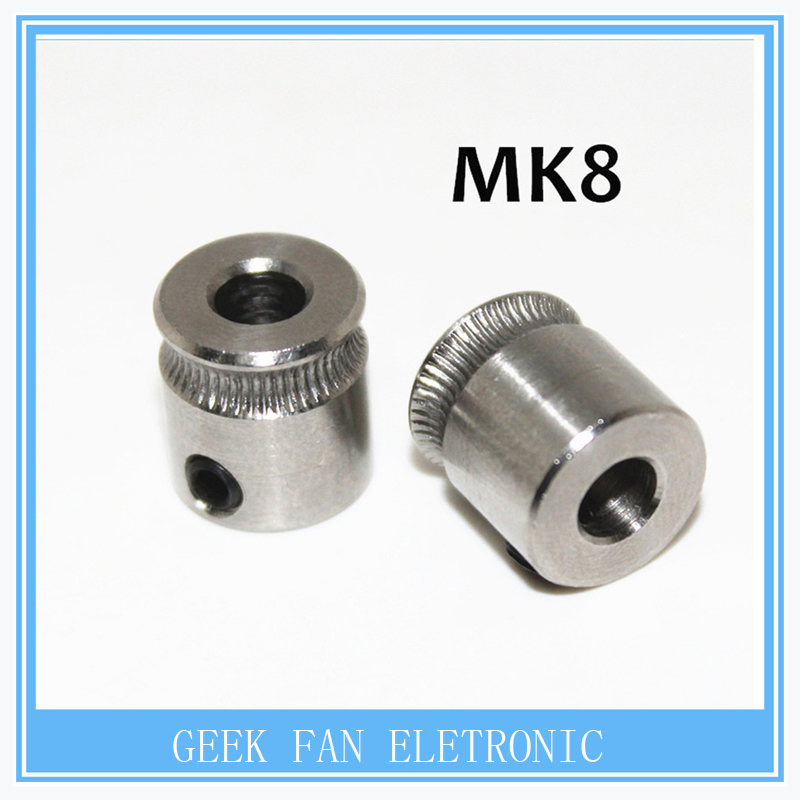 MK8 Extrusion Gear 1.75MM or 3MM for Reprap Makerbot 3D Printer 9*5*11mm