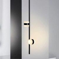 Işıklar ve Aydınlatma'ten Kolye ışıkları'de Başucu duvar lambası yatak odası katı ahşap dönen koridor koridor koridor Nordic oturma odası led duvar tablosu başucu lambası