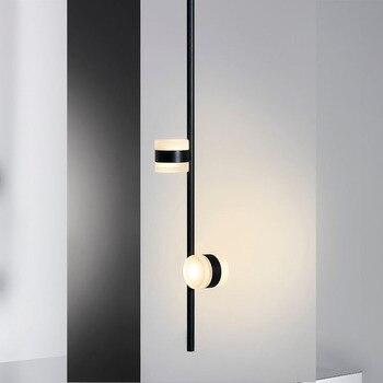 Nachtkastje wandlamp slaapkamer massief hout roterende gangpad gang gang Nordic woonkamer led muur schilderen bedlampje