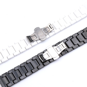 Image 4 - 12/14/16/18/20/22mm Shine for Samsung Gear S2/S3 Watchband Quality Ceramic Watch Strap Luxury Metal Bracelet for Huawei Watch 2