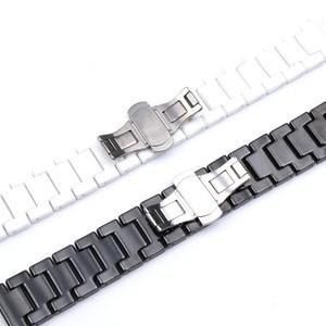 Image 4 - 12/14/16/18/20/22mm Shine voor Samsung Gear S2/S3 Horlogeband kwaliteit Keramische Horloge Band Luxe Metalen Armband voor Huawei Horloge 2