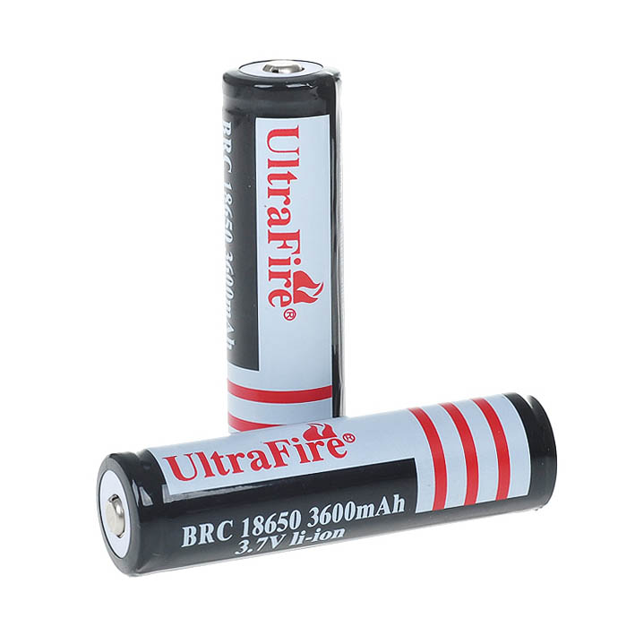 2 sections 18650 3600mAh 3.7V rechargeable protection lithium-ion battery protection 18650 lithium battery 2 flashlights