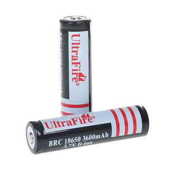 2 sections 18650 3600mAh 3.7V rechargeable protection lithium-ion battery protection 18650 lithium battery 2 flashlights - DISCOUNT ITEM  11% OFF All Category
