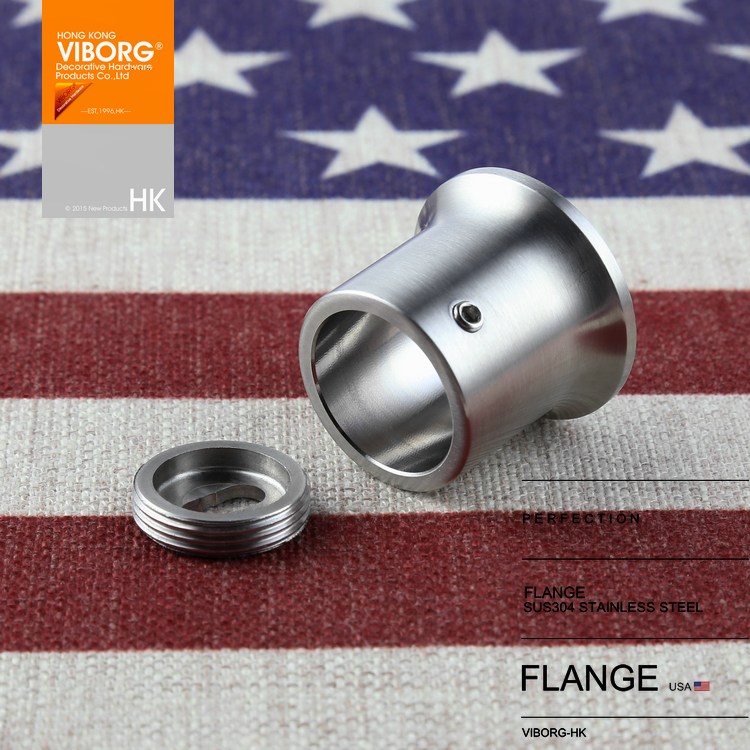 1 pair) VIBORG 25mm Solid 304 Stainless Steel Extra thick Flanges ...