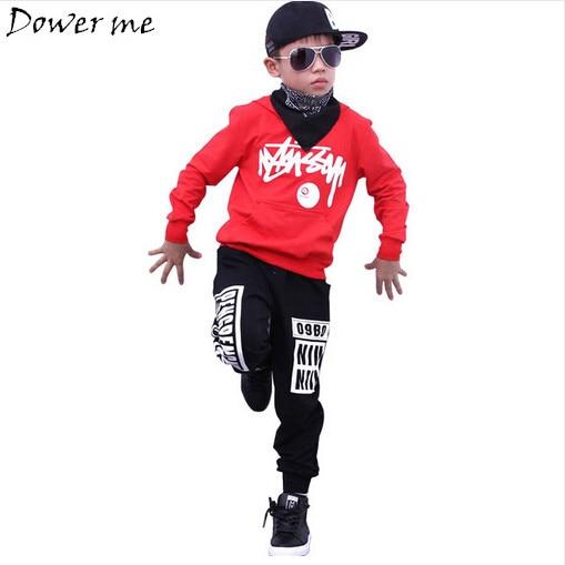 7bc85f0d42b Boys Hoodie Sweatshirts and Pant Sets Girls Street Dance Clothes Kids Hip  Hop Costumes Dance Wear Children Sport Suits
