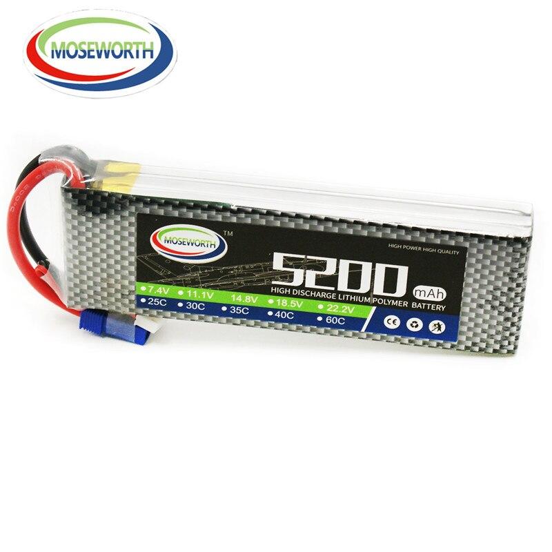 Nouveau Design 3 S RC LiPo batterie 11.1 V 5200 mAh 40C 3 S pour RC avion hélicoptère voiture bateau RC batterie LiPo 3 S Batteries rechargeables