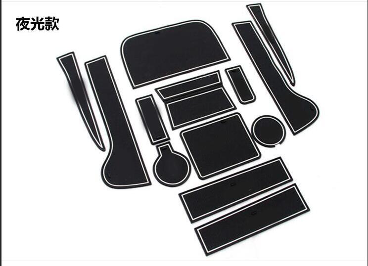 Auto-styling Custodia Per Il Vw Volkswagen Tiguan 2010-2016 Decorazione Adesivi Per Auto Interni Cuscino Tazza Fessura Del Cancello Mat Pad In Gomma