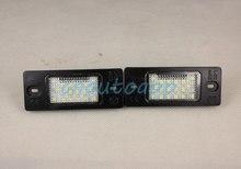 Номерного знака Лампы СВЕТОДИОДНЫЕ Пользовательская Подсветка Номерного знака Для Volkswagen VW Touareg/Tiguan/Golf 5 5D/Passat B5