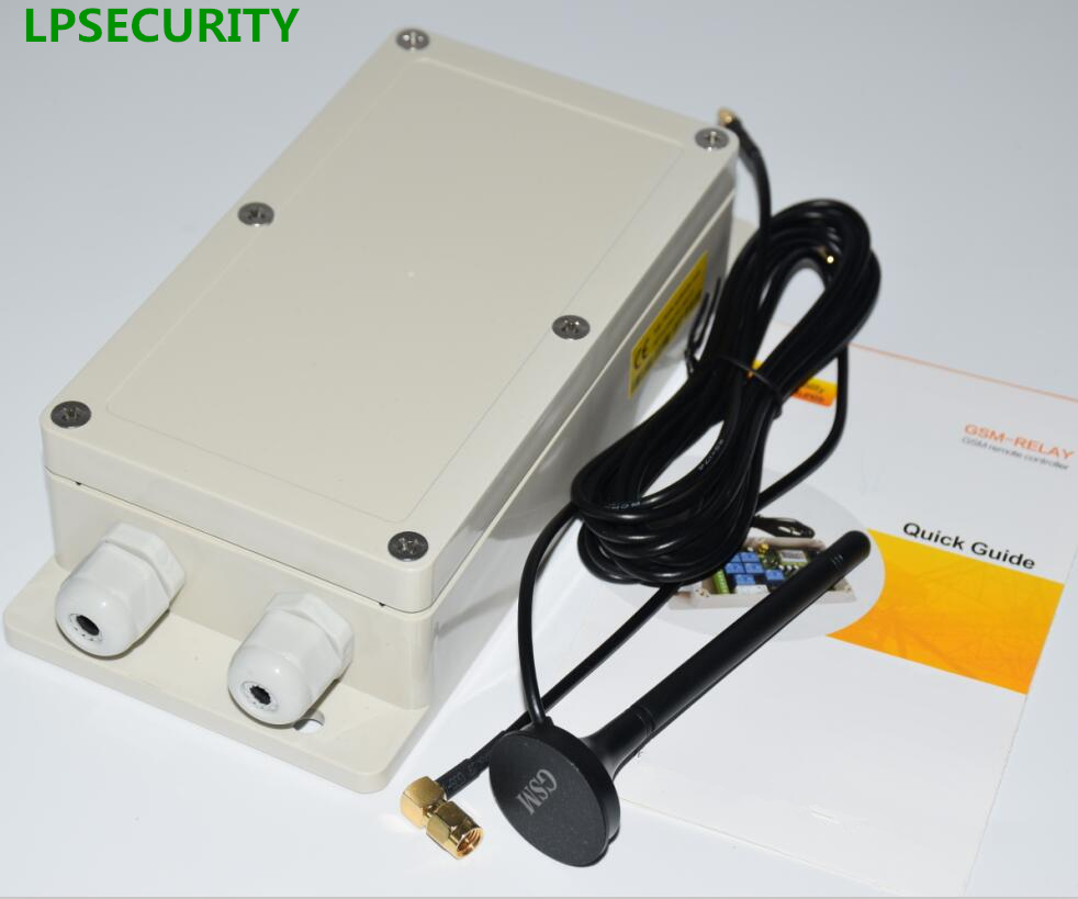 цены LPSECURITY 4G 2G Waterproof 7 relays Real-Time GSM Remote Control Relay Output Contacts Switch Box GSM 850/900/1800/1900Mhz