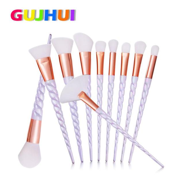 pinceis de maquiagem pennelli trucco   10PCS  Make Up Foundation Eyebrow Eyeliner Blush Cosmetic Concealer Brushes DEC01