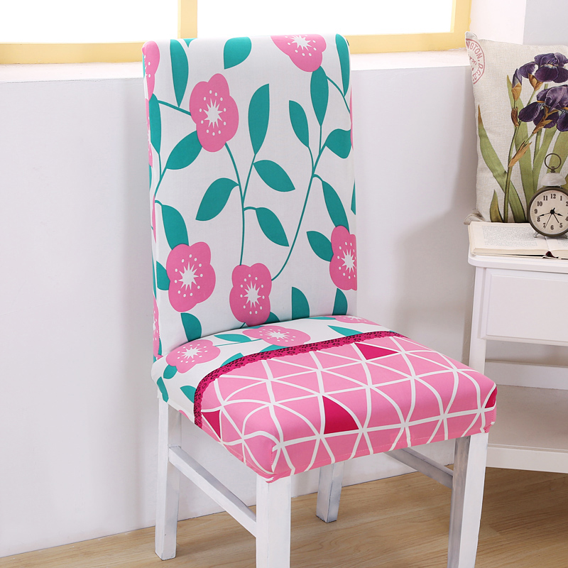 Vintage Floral Spandex Elastic Dining Chair Protector Slipcovers Kitchen Dining Room Decoration Stretch Chair Cover for Banquet
