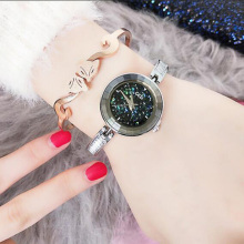 New Fashion Diamond-encrusted Womens Watches Top Brand Watch Bracelet Casual Wild Quartz Luxury  Elegant