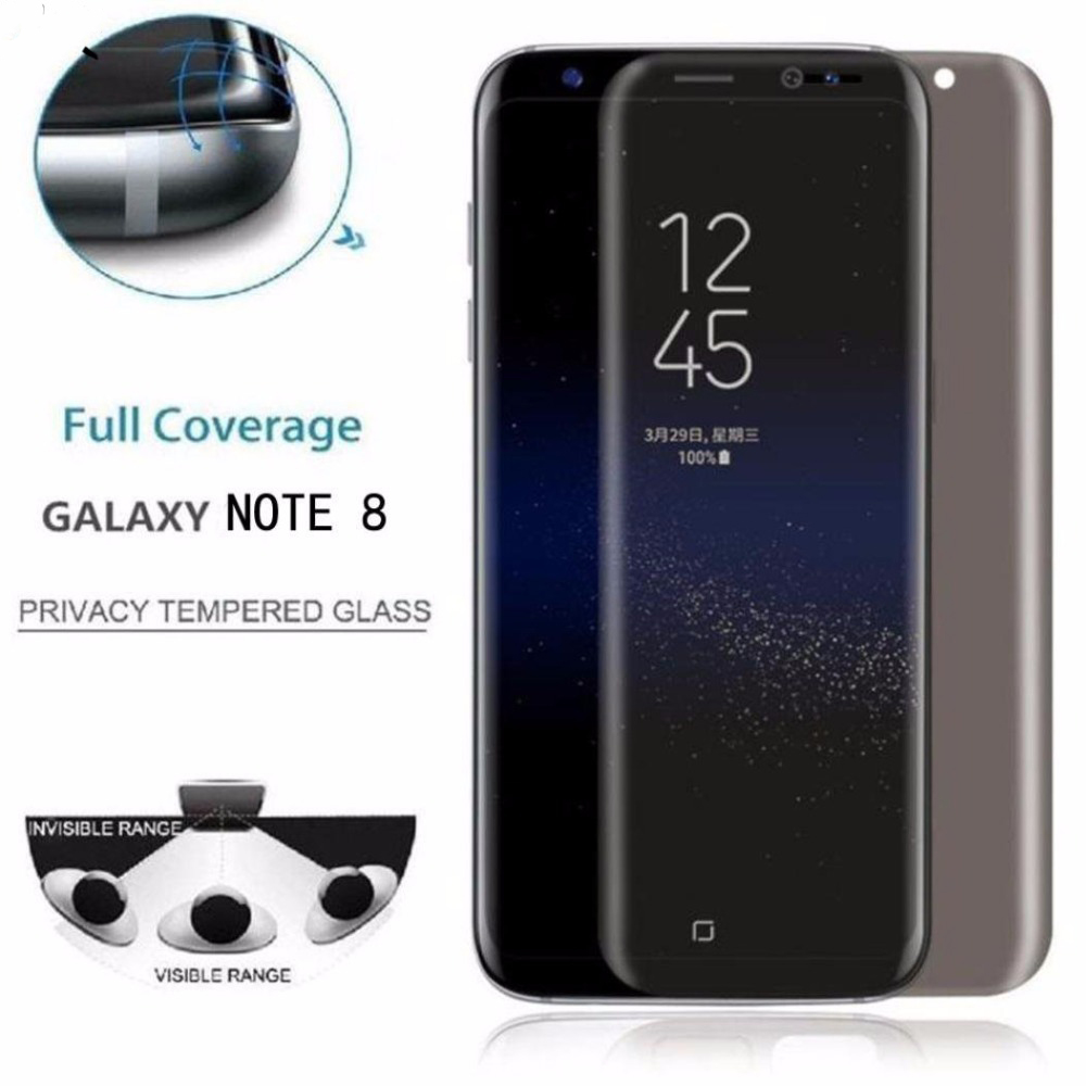 Privacy Tempered Glass Screen Protector For Samsung Galaxy S9 S8 Plus Note 9 8 S7 Edge J3 J5 J7 2017 Anti-Spy Glass Front Film