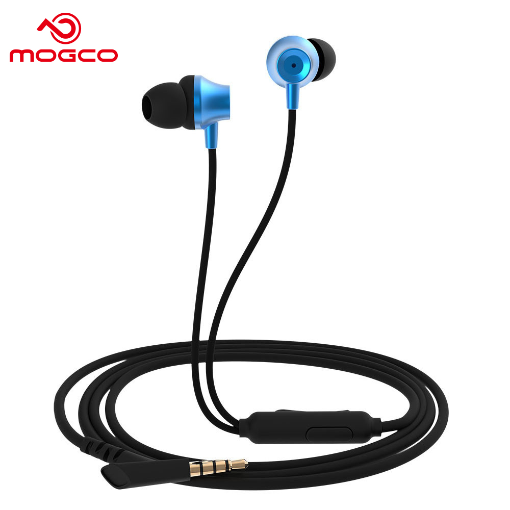 MOGCO Stereo Talking Wired Earphone In-Ear Heavy Bass Sound Headset 3.5mm HD Wire Control Universal Earphones For Mobile Phone chrome plated wired control plate for jazz bass total approx 152 54 mm l 344