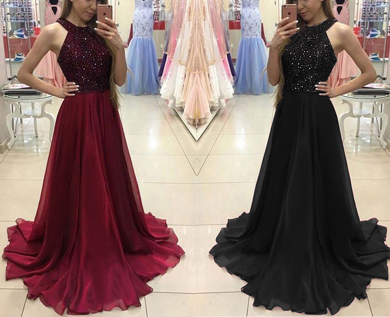 Women Dresses Formal Wedding Evening Ball Gown Party Prom
