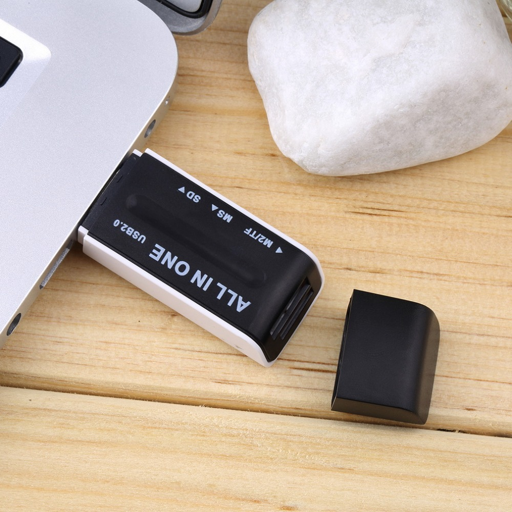 Black New USB 2.0 Memory Multi Flash Card Reader Adapter For SD TF M2 MS
