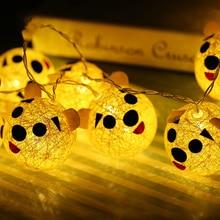 10 Led Fairy Animal Cotton Ball Батареи с питанием от батареи Светильники Luminaria 1.5m LED для рождественской гирлянды на окне