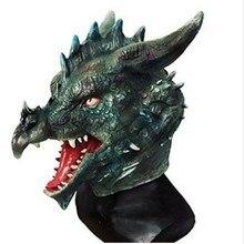 Hot Selling Halloween Latex Dragon Head Mask Rubber Animal Cosplay
