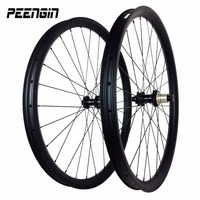 New hand-build 29'' mtb wheelset rodas 29er 40mm carbon clincher tubeless quick release/thru axle wheels mountain bike dh rims