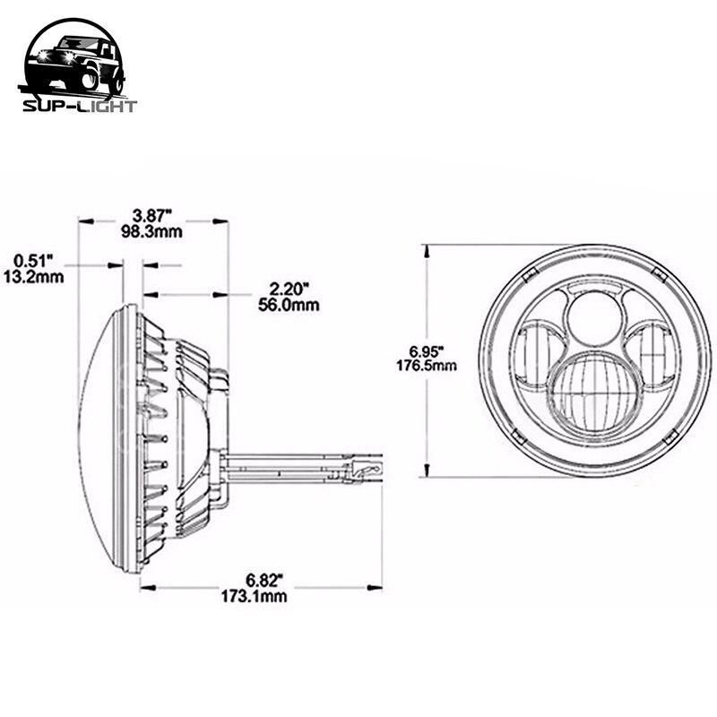 7 zoll H4 rgb led ring lampe motorrad scheinwerfer für Jeep wrangler ...