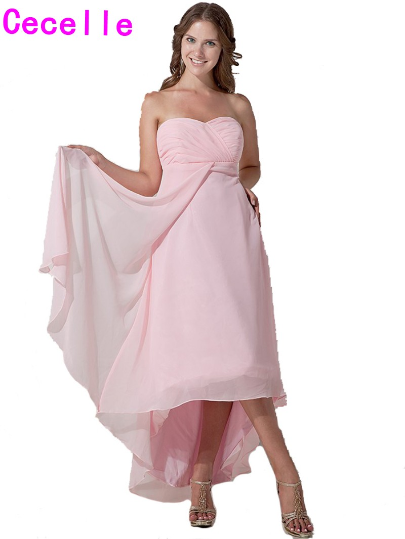 Online get cheap short country bridesmaid dresses aliexpress pink short high low chiffon bridesmaids dresses real images sweetheart custom made country rustic wedding party dresses summer ombrellifo Gallery