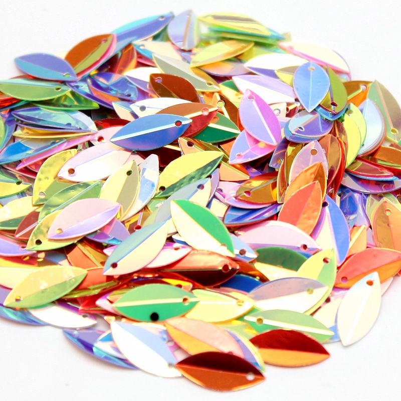 30grams 3-25mm Crystal Transparent Loose Sequins Paillettes Sewing Wedding decor