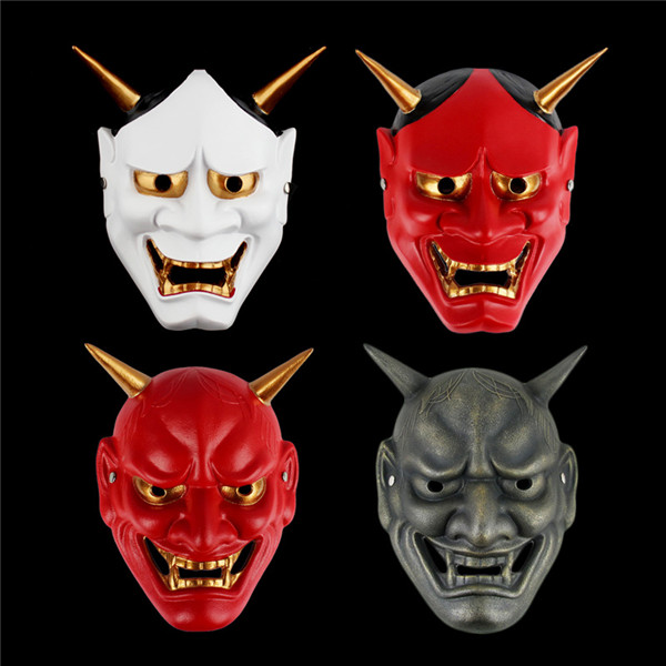 Free Shipping Japan Pra Mask Ghost Scary Mask Female Demon Toy Cool Halloween Costume Horror Prank Joke Supply Gift
