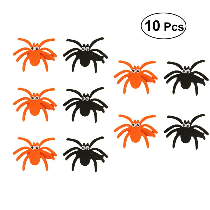 Felt Creative Funny Halloween Spider Design Hair Clip Hair Accessories Hairpin Hair Barrette for Halloween Party Holiday Cosplay