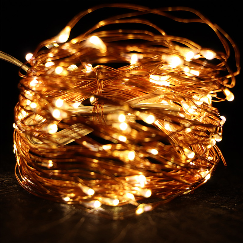 10M 100 LED String Light Waterproof LED Copper Wire String Holiday Outdoor Fairy Lights For Christmas Party Wedding Decoration