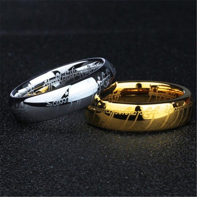 (1 peças/lote) 100% de Tungstênio anel Aço Inoxidável 316l Anel de presente para os homens