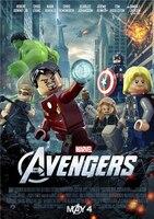 Custom Mural Lego Wallpaper Lego Poster Thor Sticker Marvel Comics Superheroes Lego Avengers Wall Stickers Bedroom