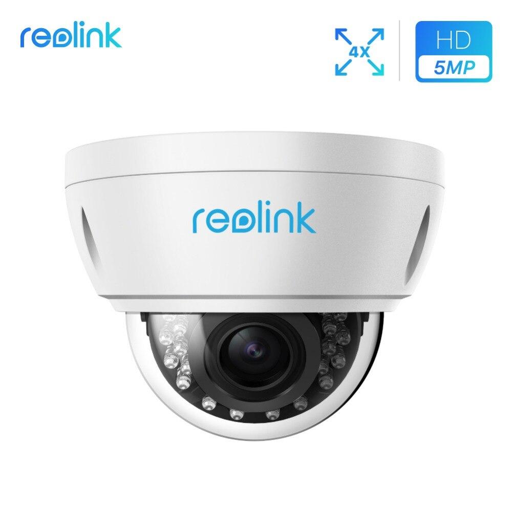 Reolink 5MP Sécurité Caméra extérieure PoE 4x Zoom Optique Fente Intégrée Pour carte SD Anti-Vandalisme caméra de surveillance RLC-422-5MP