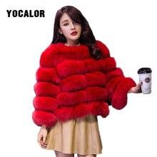 YOCALOR пальто из искусственного меха норки пальто зимняя куртка Для женщин Элегантный Теплая верхняя одежда поддельные Меховая куртка Женская куртка-парка женские пальто