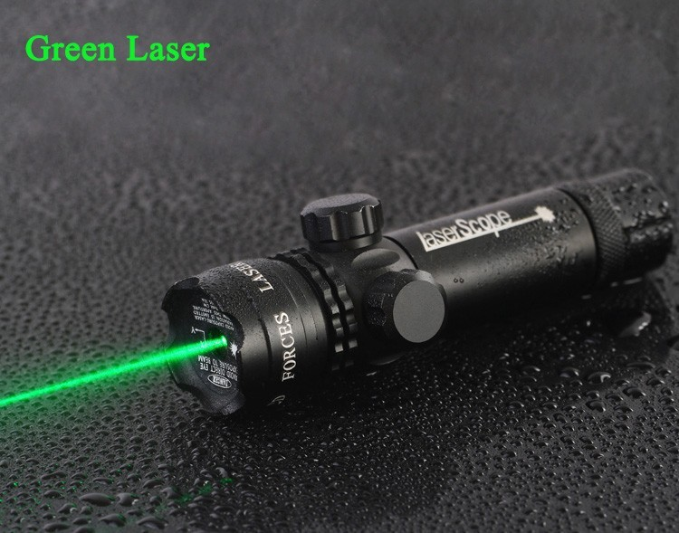 Taktisk jakt Justerbar grön punktlaser Sight Scope ficklampa 20mm Rail Picatinny Mount Gun Rifle