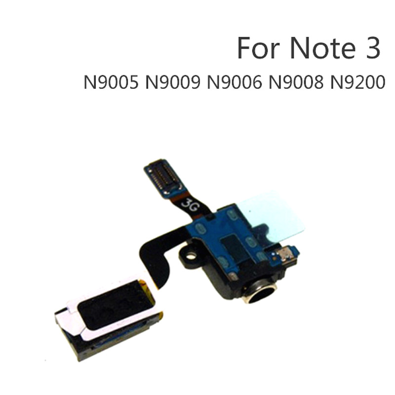 Audio Jack Flex Cable For SamSung Note 3 Note3 N900 N9005 N9000 Earpiece Headphone Speaker Replacement Parts