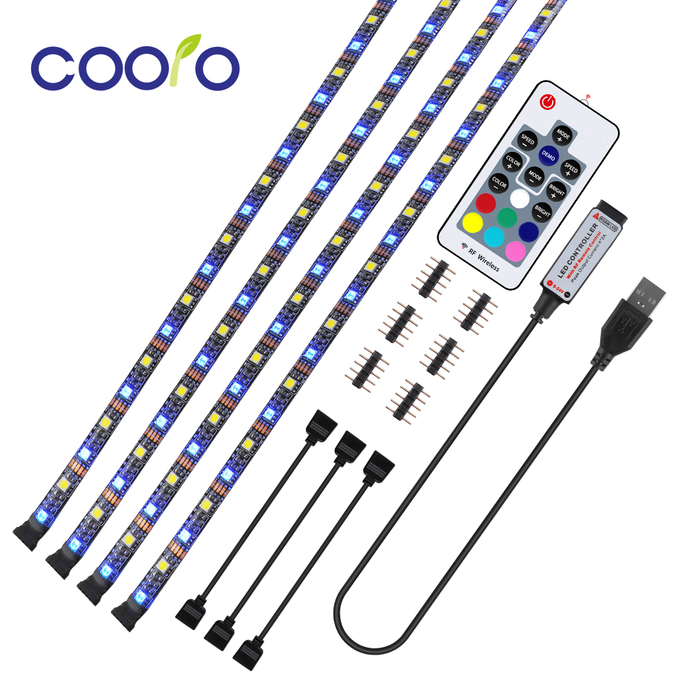 Newest 5V RGBW LED Strip 17 Key RGBWW USB Cable Power Flexible Light Lamp 1/2/3/4M SMD 5050 Desk Screen TV Background Lighting