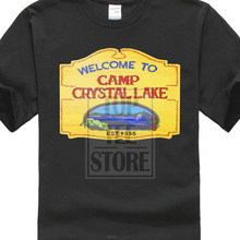 563c2b7a4 2017 New Men T Shirt New Camp Crystal Lake Vintage Sign The 13 Friday Jason  Horror 13th T Shirt Clothes