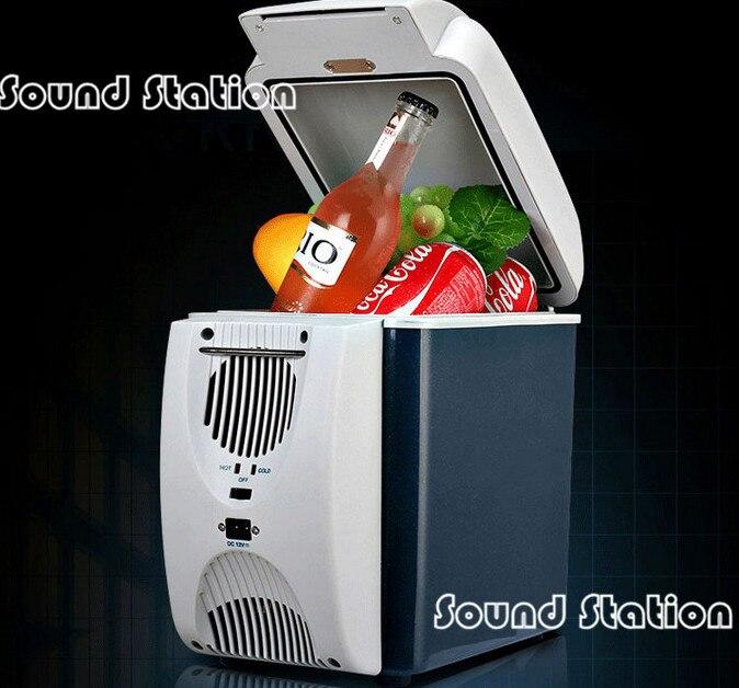 7.5L voiture Mini petit réfrigérateur congélateur réfrigération boîte de chauffage double usage/Cool glacière essentiel voyage tourisme