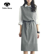 2019 new wool vest women sweater long paragraph sleeveless pullover o-neck simple thick female