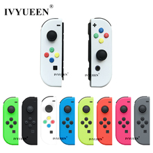 IVYUEEN for Nintend Switch NS Joy Con Replacement Housing Shell Case for JoyCons Controller Cover Green Pink White Repair Parts