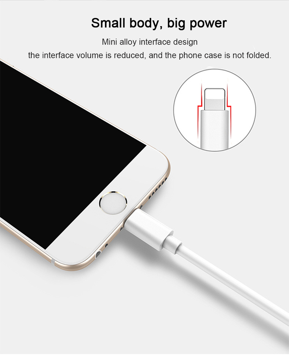 NOHON 2.4A Sync USB Fast Charger Cable 8 Pin Lighting For iPhone X XS MAX XR Charging Data Cable For iphone 8 7 6S 5 Plus 1M 3M  (6)